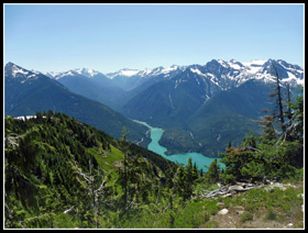 Diablo Lake From Sourdough Lookout